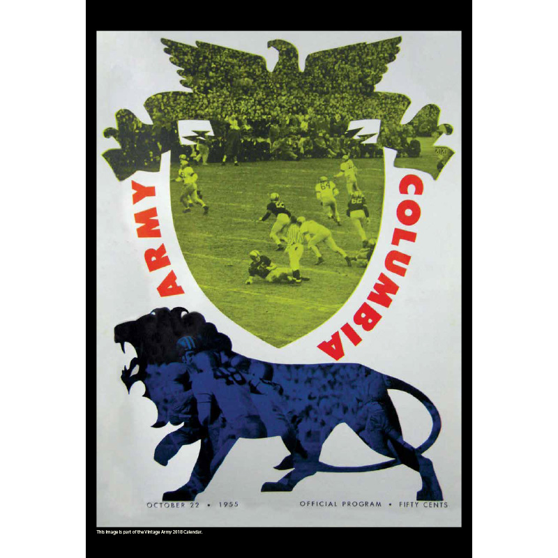 2018 Vintage Army Black Knights Football Calendar September