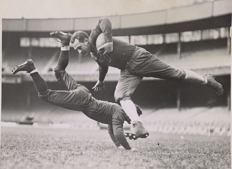 Caption This!  …you could Win a 2018 Vintage College Football Calendar of Your Choice!