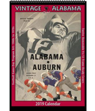 2019 Vintage Alabama Crimson Tide Football Calendar