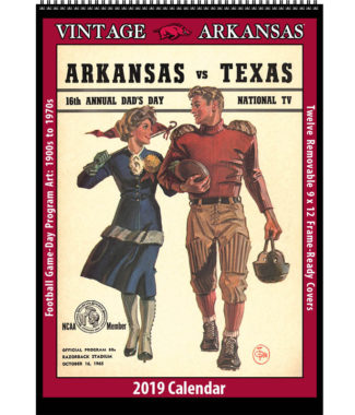 2019 Vintage Arkansas Razorbacks Football Calendar
