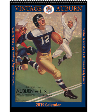 2019 Vintage Auburn Tigers Football Calendar