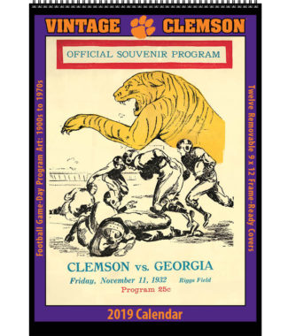 2019 Vintage Clemson Tigers Football Calendar