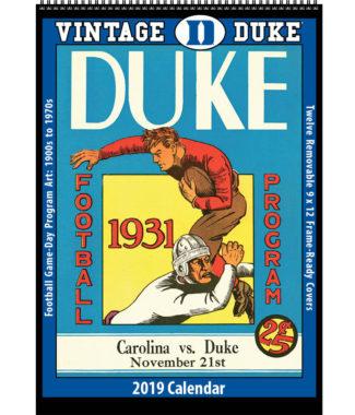 2019 Vintage Duke Blue Devils Football Calendar