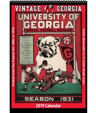 2019 Vintage Georgia Bulldogs Football Calendar