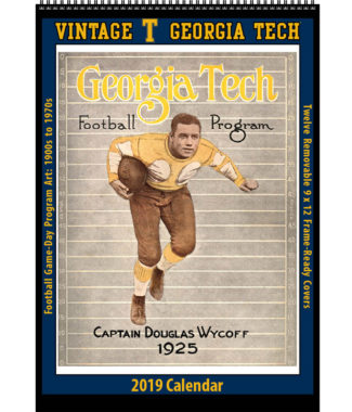 2019 Vintage Georgia Tech Yellowjackets Football Calendar