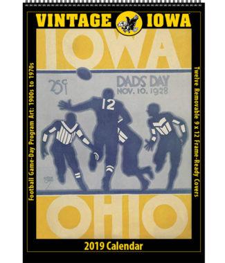 2019 Vintage Iowa Hawkeyes Football Calendar