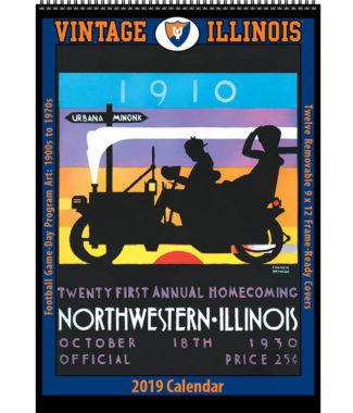 2019 Vintage Illinois Fighting Illini Football Calendar