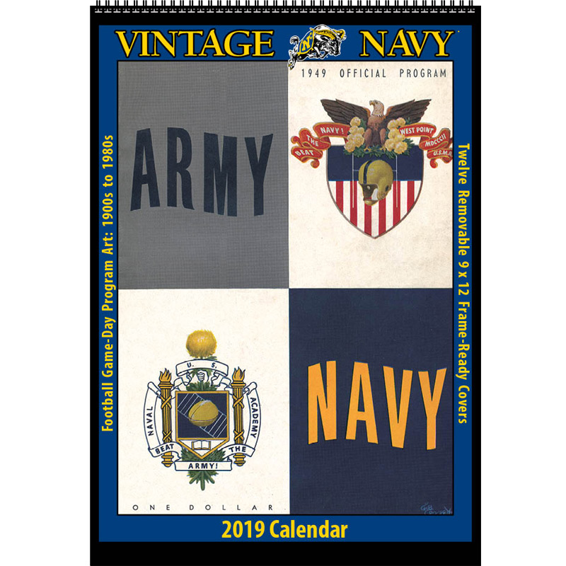 2019 Vintage Navy Midshipmen Football Calendar