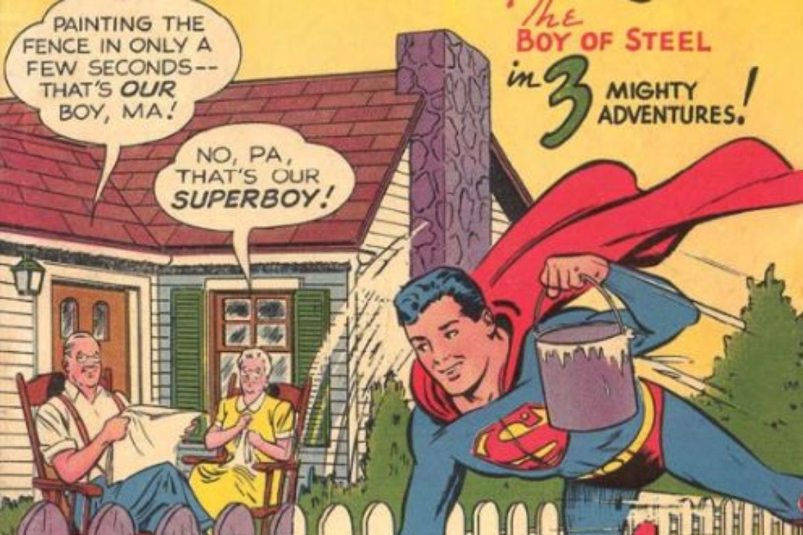 Summertime House & Lawn Service Superboy Style!