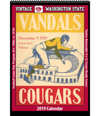 2019 Vintage Washington State Cougars Football Calendar