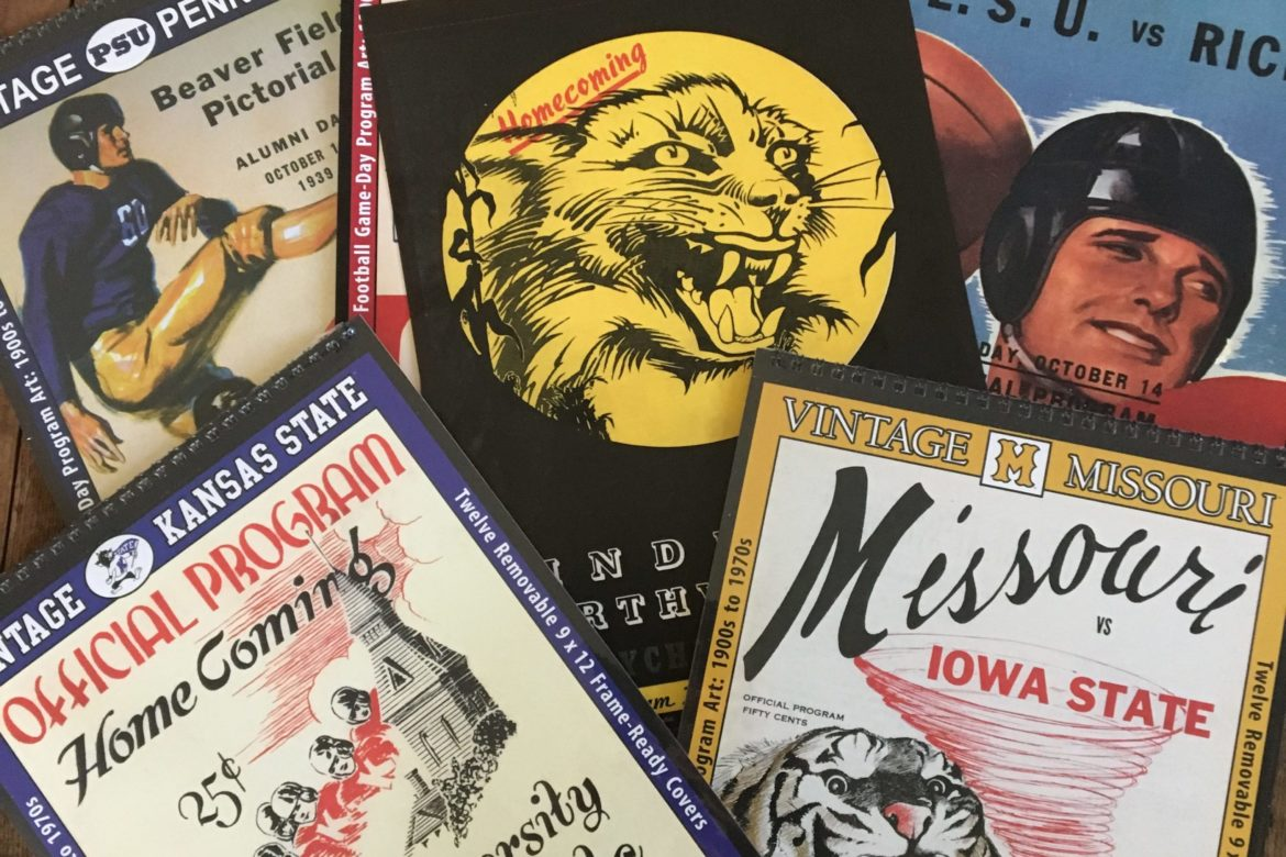 What do these Vintage College Football Calendars Have in Common?