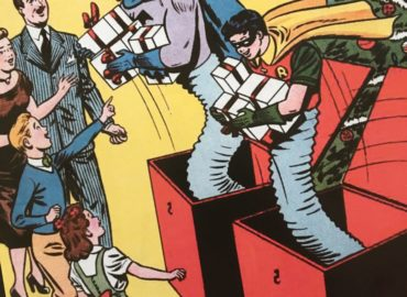 Caped Crusader Christmas Comics Cover!