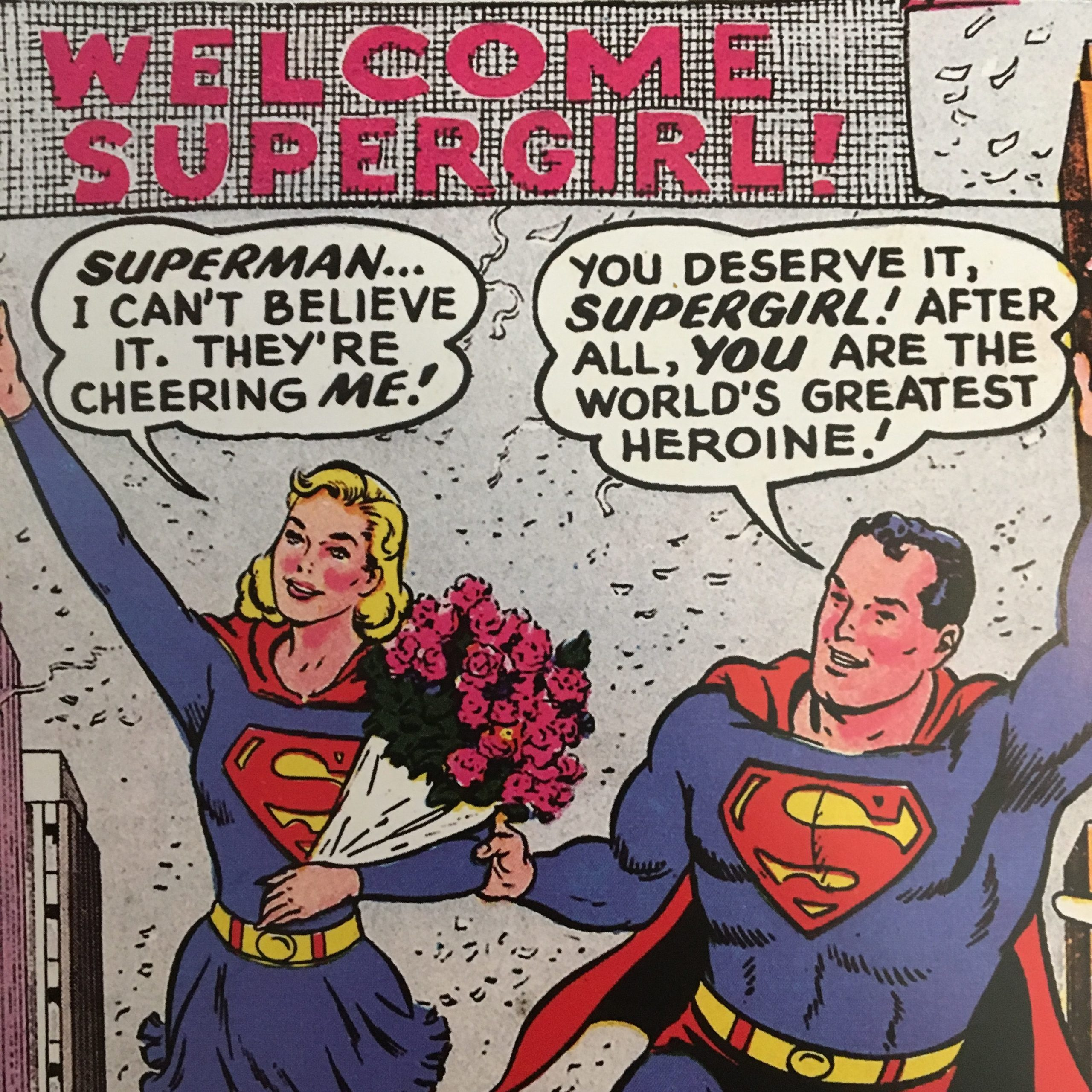 Superman presents Supergirl to the World!
