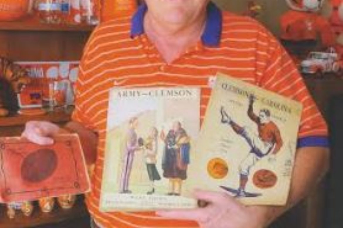 Meet Earle Maxwell, Owner of over 900 Authentic Clemson Football Programs!
