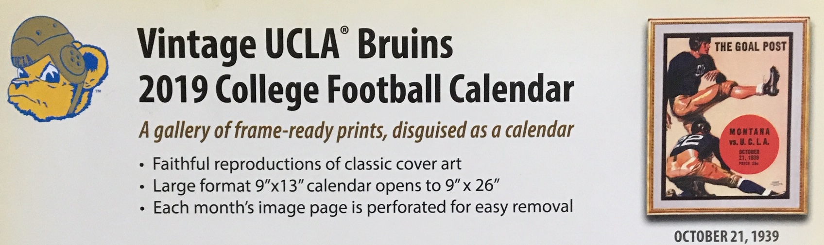 Ucla Calendar.Collegiate Close Ups 3 Asgard Press