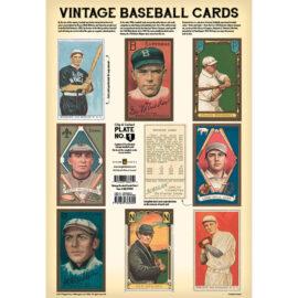 Vintage Baseball Cards Plate 1 Front
