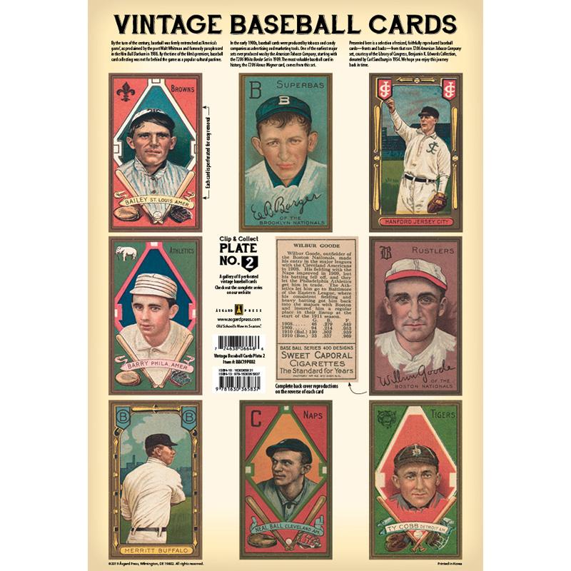 Vintage Baseball Cards Plate 2 Front