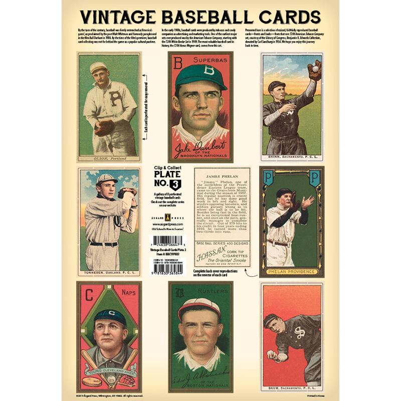 Vintage Baseball Cards Plate 3 Front