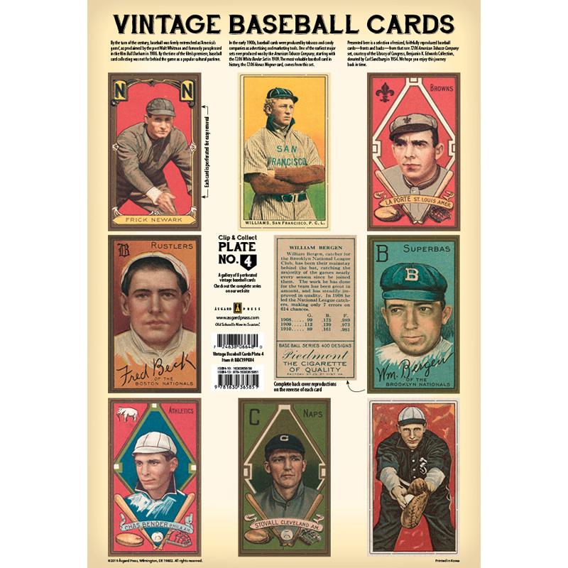 Vintage Baseball Cards Plate 4 Front