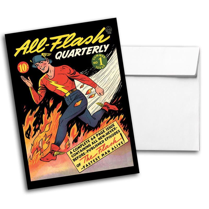 Vintage DC Comics Notecard Pack 1, Card 1
