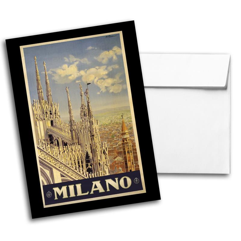 Vintage Travel & National Parks Notecard Set 1, Card 1