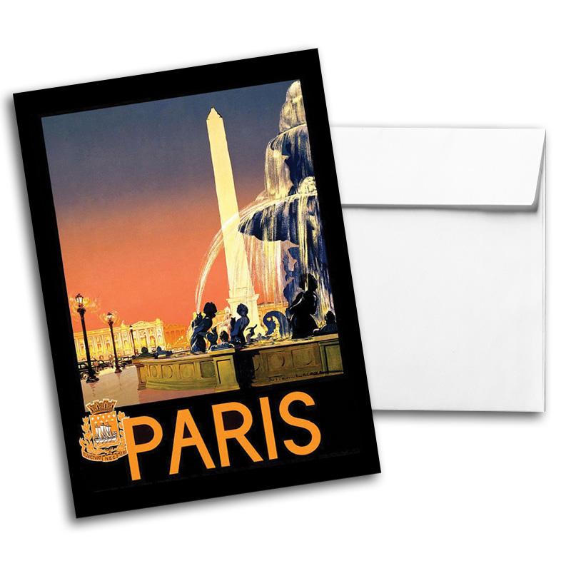 Vintage Travel & National Parks Notecard Set 1, Card 3