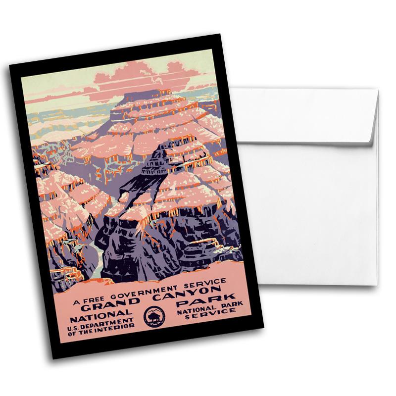 Vintage Travel & National Parks Notecard Set 2, Card 1