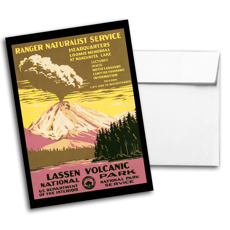 Vintage Travel & National Parks Notecard Set 2, Card 2