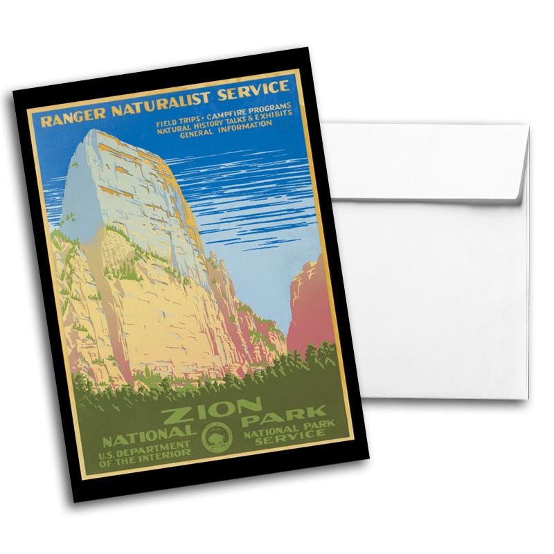 Vintage Travel & National Parks Notecard Set 2, Card 3