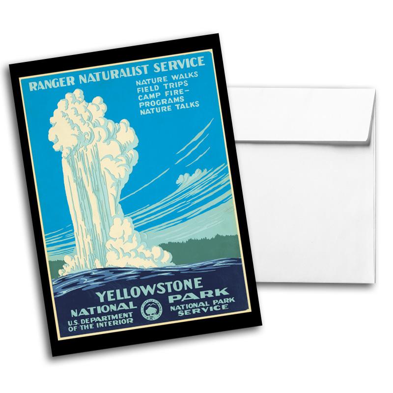 Vintage Travel & National Parks Notecard Set 2, Card 4