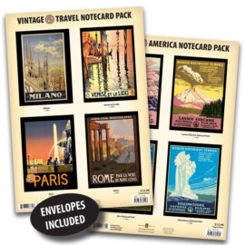 Vintage Travel & National Parks Notecard Packs