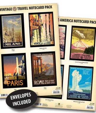 Vintage Travel & National Parks Notecard Packs