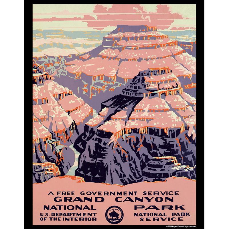 Vintage America - Grand Canyon National Park 11x14 poster print