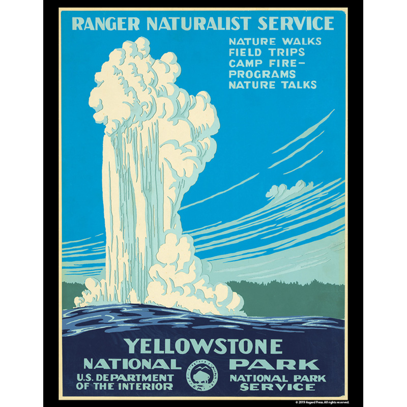 Vintage America - Yellowstone National Park 11x14 poster print