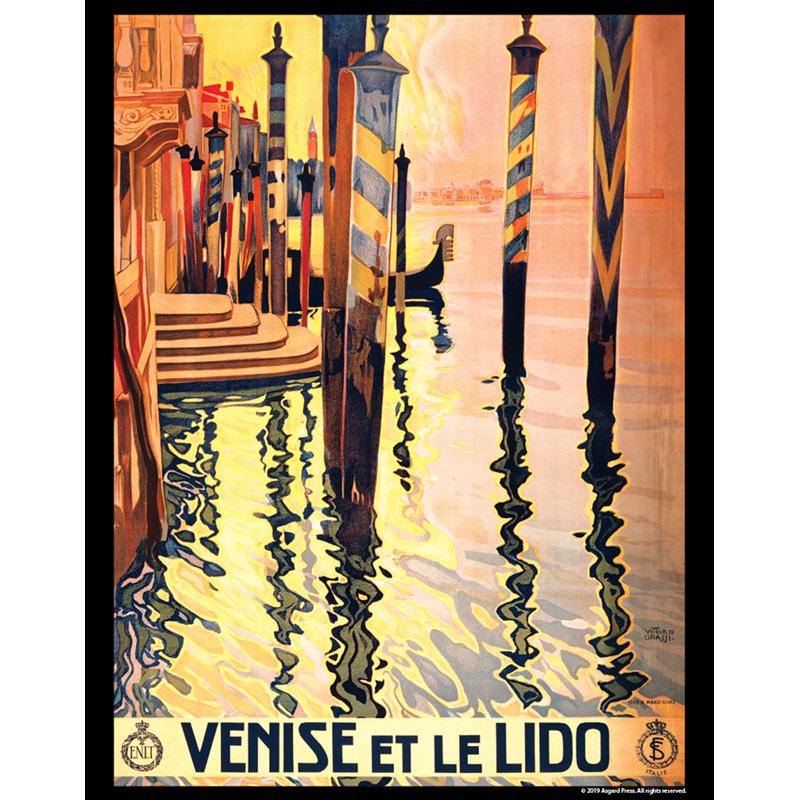 Vintage Travel - Venise et le Lido Travel Poster 11x14 print