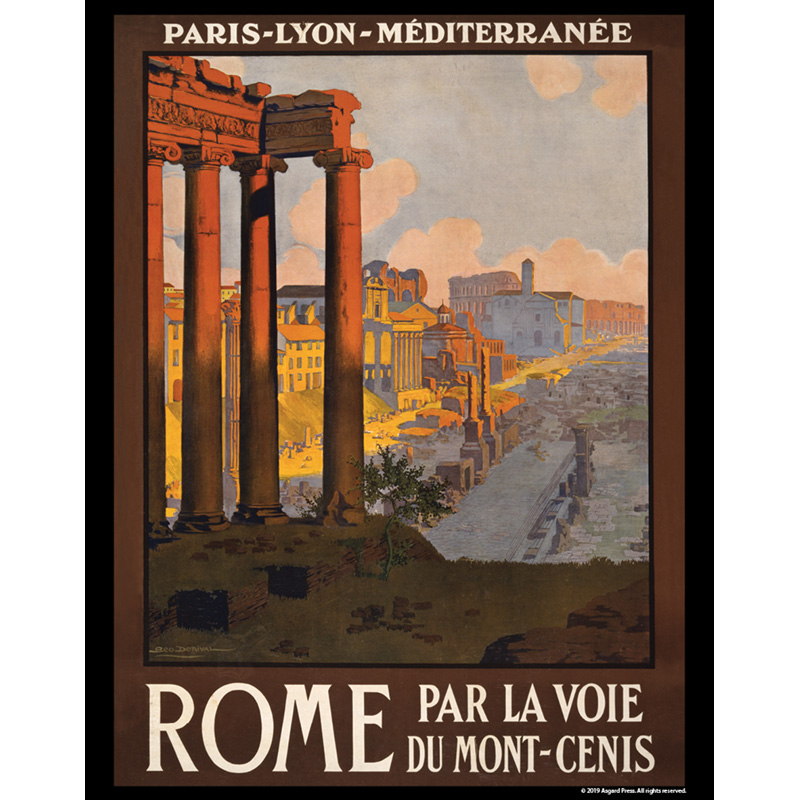 Vintage Travel - Rome Travel Poster 11x14 print