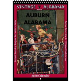 2020 Vintage Alabama Crimson Tide Football Calendar