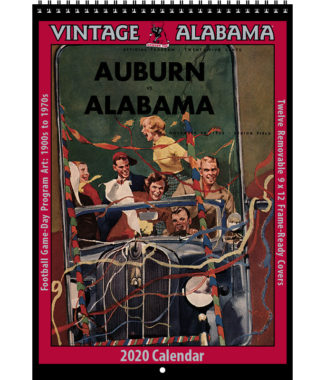 2020 Vintage Alabama Crimson Tide Football Calendar