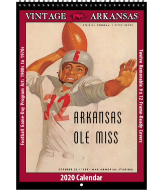 2020 Vintage Arkansas Razorbacks Football Calendar