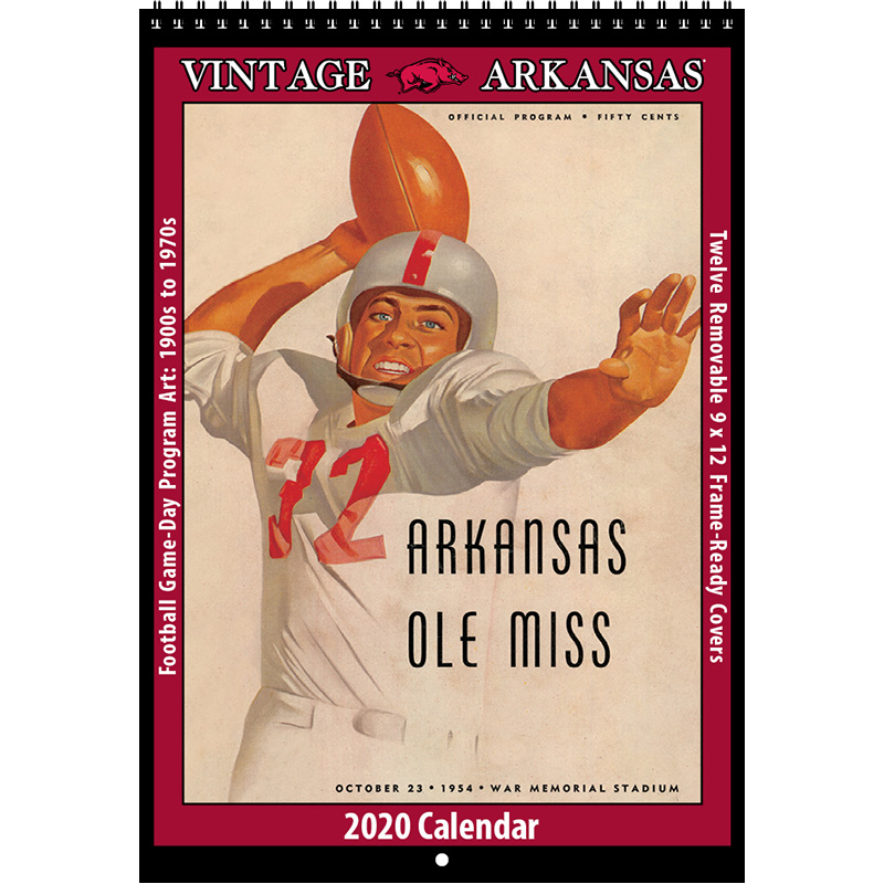 2020 Vintage Arkansas Razorbacks Football Calendar