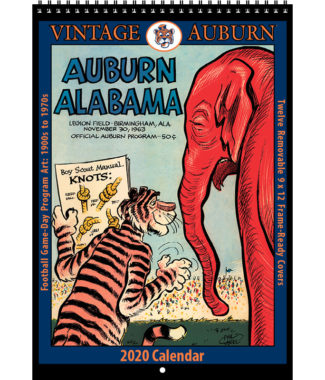 2020 Vintage Auburn Tigers Football Calendar