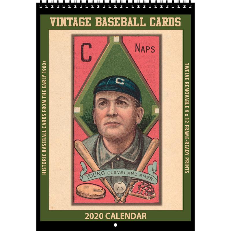 2020 Vintage Baseball Cards Calendar