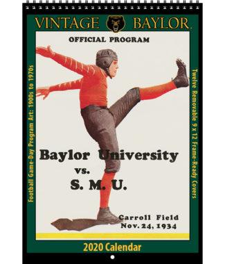 2020 Vintage Baylor Bears Football Calendar