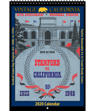 2020 Vintage California Golden Bears Football Calendar
