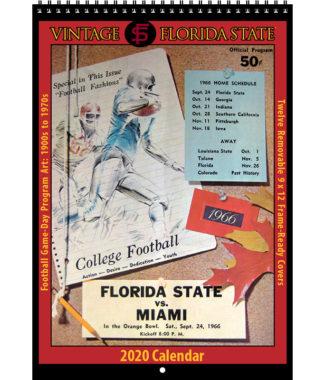 2020 Vintage Florida State Seminoles Football Calendar