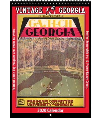 2020 Vintage Georgia Bulldogs Football Calendar