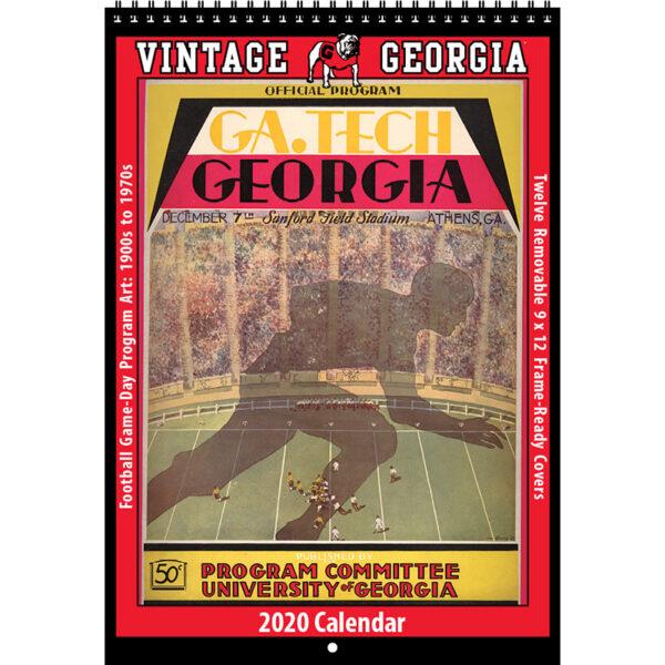 2020 Vintage Georgia Bulldogs Football Calendar