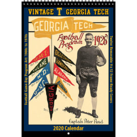 2020 Vintage Georgia Tech Yellowjackets Football Calendar