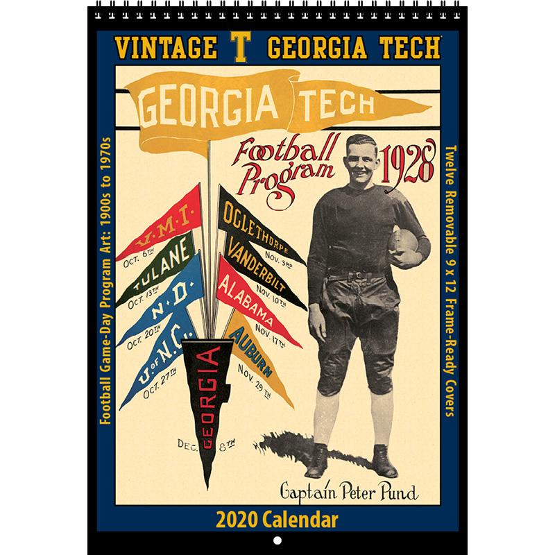 2020 Vintage Georgia Tech Yellowjackets Football Calendar