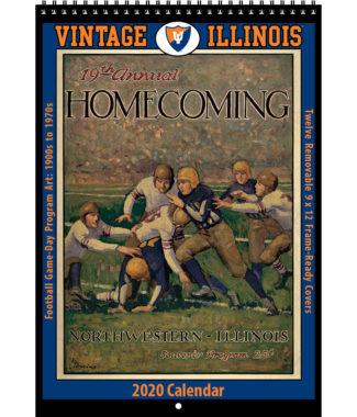 2020 Vintage Illinois Fighting Illini Football Calendar